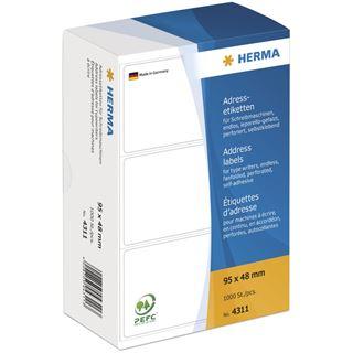 Herma 4311 endlos Adressetiketten für Schreibmaschinen 9.5x4.8