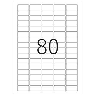 Herma 4336 Premium Universal-Etiketten 3.56x1.69 cm (25 Blatt (2000