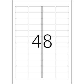 Herma 4346 ablösbar Universal-Etiketten 4.57x2.12 cm (25 Blatt