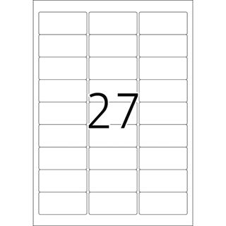 Herma 4347 ablösbar Universal-Etiketten 6.35x2.96 cm (25 Blatt
