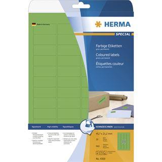 Herma 4369 grün Universal-Etiketten 4.57x2.12 cm (20 Blatt (960