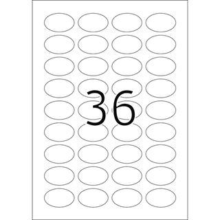 Herma 4380 oval Universal-Etiketten 4.06x2.54 cm (25 Blatt (900