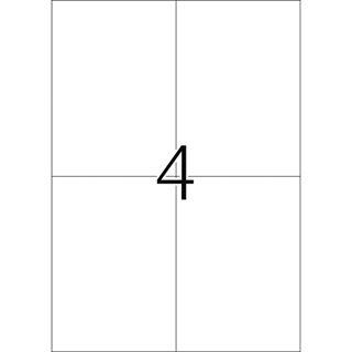 Herma 4397 rot Universal-Etiketten 10.2x14.8 cm (100 Blatt (400