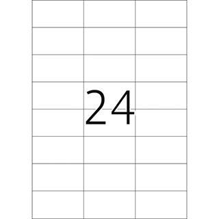 Herma 4407 rot Universal-Etiketten 7.0x3.7 cm (100 Blatt (2400