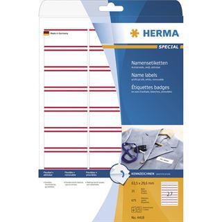 Herma 4418 ablösbar Namensetiketten 6.35x2.96 cm (25 Blatt (675