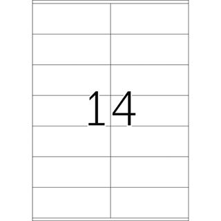 Herma 4452 Premium Universal-Etiketten 10.5x4.2 cm (100 Blatt (1400