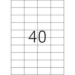 Herma 4461 Premium Universal-Etiketten 5.25x2.97 cm (100 Blatt (4000