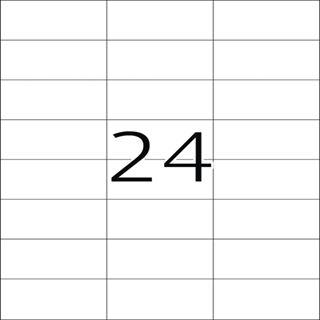 Herma 4464 Premium Universal-Etiketten 7.0x3.7 cm (100 Blatt (2400