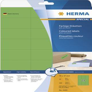 Herma 4469 grün Universal-Etiketten 7.0x3.7 cm (20 Blatt (480