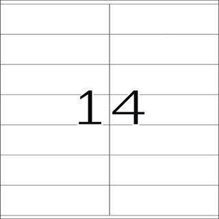 Herma 4475 Premium Universal-Etiketten 10.5x4.1 cm (100 Blatt (1400