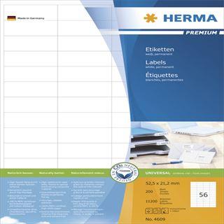 Herma 4609 Premium Universal-Etiketten 5.25x2.12 cm (200 Blatt (11200