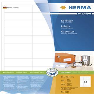 Herma 4613 Premium Universal-Etiketten 6.6x2.54 cm (200 Blatt (6000