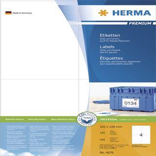 Herma 4676 Premium Universal-Etiketten 10.5x14.8 cm (100 Blatt (400