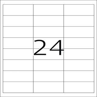 Herma 4681 Folie Transparent-Etiketten 6.6x3.38 cm (25 Blatt (600