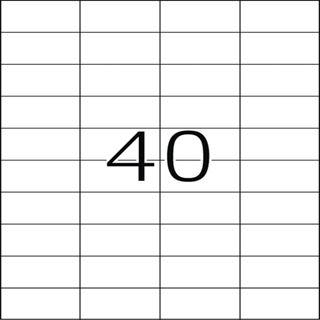 Herma 4684 Folie Transparent-Etiketten 5.25x2.97 cm (25 Blatt (1000