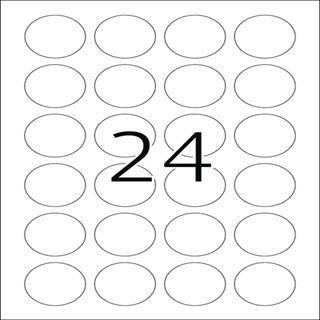Herma 4686 Folie rund Transparent-Etiketten 4x4 cm (25 Blatt (600