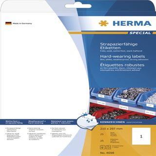 Herma 4698 strapazierfähig Universal-Etiketten 21.0x29.7 cm (25