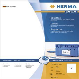 Herma 4819 Inkjet-Etiketten 21.0x29.7 cm (100 Blatt (100 Etiketten))