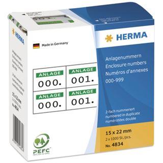 Herma 4834 selbstklebend 2fach weiß/grün Anlagenummern
