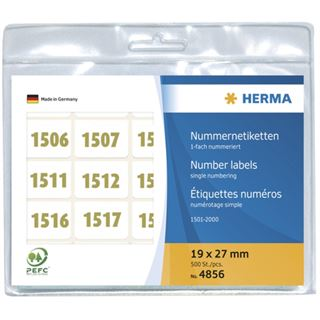 Herma 4856 oliv selbstklebend Nummernetiketten 1.9x2.7 cm (500