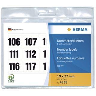 Herma 4858 schwarz selbstklebend Nummernetiketten 1.9x2.7 cm (100