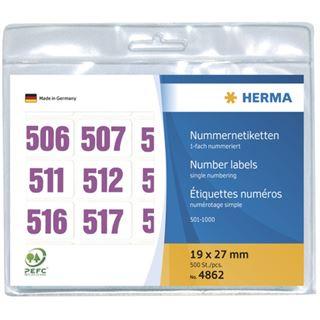 Herma 4862 violett selbstklebend Nummernetiketten 1.9x2.7 cm (500