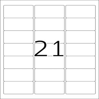 Herma 4904 Universal-Etiketten 6.35x3.81 cm (25 Blatt (525 Etiketten))