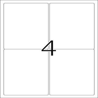 Herma 4908 Universal-Etiketten 9.6x13.97 cm (25 Blatt (100 Etiketten))