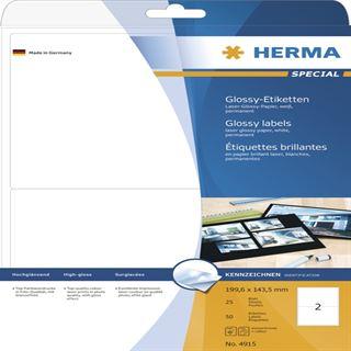 Herma 4915 Universal-Etiketten 19.96x14.35 cm (25 Blatt (50