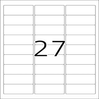 Herma 5045 rot Universal-Etiketten 6.35x2.96 cm (20 Blatt (540