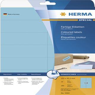 Herma 5060 blau Universal-Etiketten 10.5x4.23 cm (20 Blatt (280