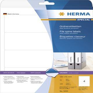 Herma 5095 blickdicht Ordneretiketten 19.2x6.1 cm (25 Blatt (100