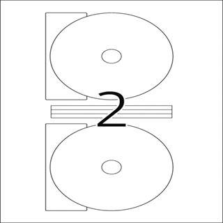 Herma 5115 CD-Etiketten 1.6x1.6 cm (25 Blatt (50 Etiketten))