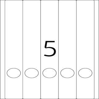 Herma 5130 blickdicht Ordneretiketten 3.8x29.7 cm (25 Blatt (125