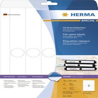 Herma 5165 blickdicht schmal Hängeordneretiketten 3.4x29.7 cm
