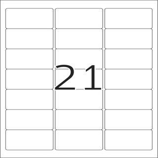 Herma 8017 glasklar Folie Universal-Etiketten 6.35x3.81 cm (25 Blatt