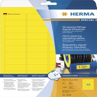 Herma 8030 strapazierfähig Signal-Schilder 4.57x2.12 cm (25