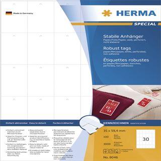Herma 8046 perforiert nicht klebend Stabile Anhänger 3.5x5.94 cm