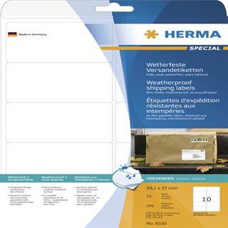 Herma 8330 extrem stark haftend Adressetiketten 9.91x5.7 cm (25 Blatt