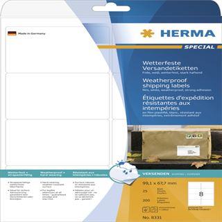 Herma 8331 extrem stark haftend Adressetiketten 9.91x6.77 cm (25