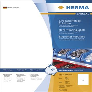 Herma 8335 extrem stark haftend Universal-Etiketten 21.0x29.7 cm (100