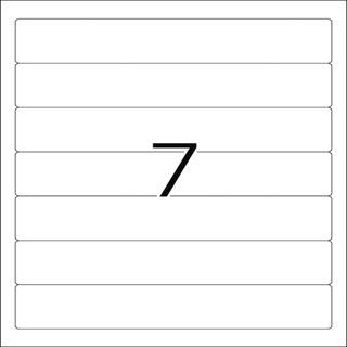 Herma 8620 blickdicht Ordneretiketten 19.2x3.8 cm (10 Blatt (70