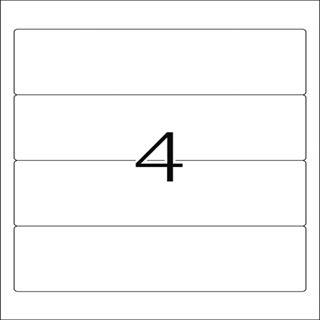 Herma 8621 blickdicht Ordneretiketten 19.2x6.1 cm (10 Blatt (40