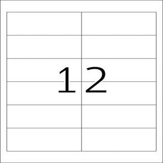 Herma 8628 Premium Universal-Etiketten 9.7x4,23 cm (10 Blatt (120