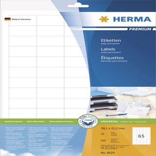 Herma 8629 Premium Universal-Etiketten 3.8x2.12 cm (10 Blatt (650