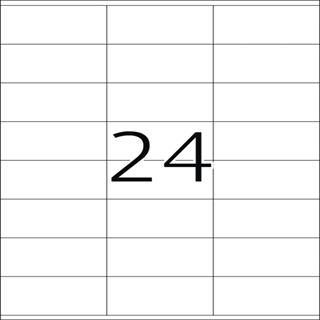 Herma 8638 Premium Universal-Etiketten 7x1.69 cm (10 Blatt (240