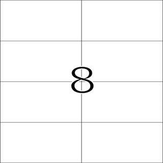 Herma 8645 Premium Universal-Etiketten 10.5x7.4 cm (10 Blatt (80