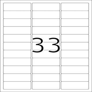 Herma 8837 Inkjet-Etiketten 6.35x2.54 cm (25 Blatt (825 Etiketten))