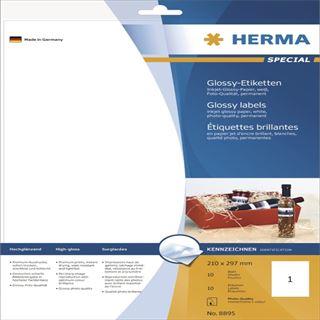 Herma 8895 Inkjet-Etiketten 21.0x29.7 cm (10 Blatt (10 Etiketten))