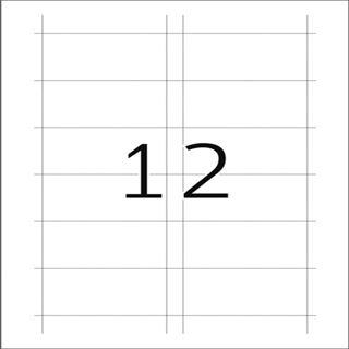 Herma 9010 nicht klebend Namensetiketten 4x7.5 cm (25 Blatt (300